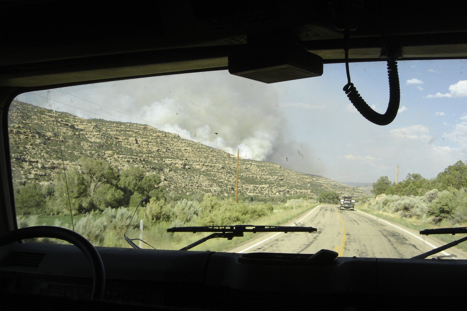 Driving to the Wagstaff Fire