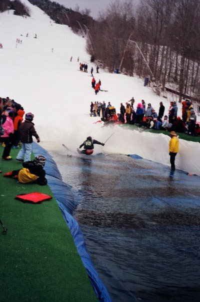 Pond skim crash
