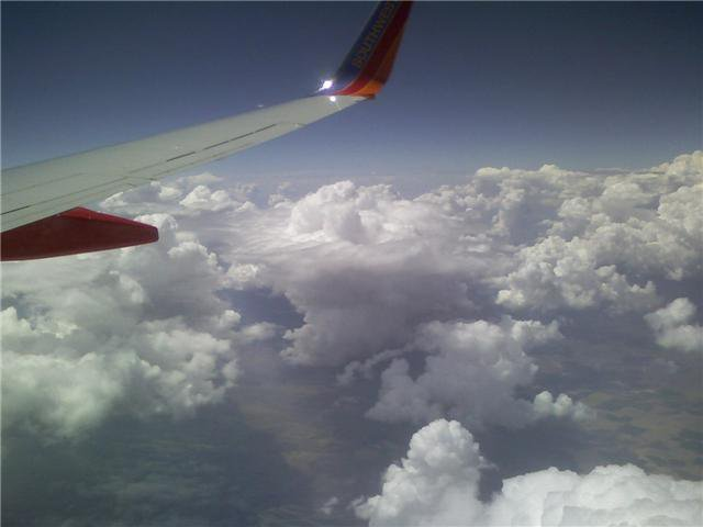 Phone shot from the plane