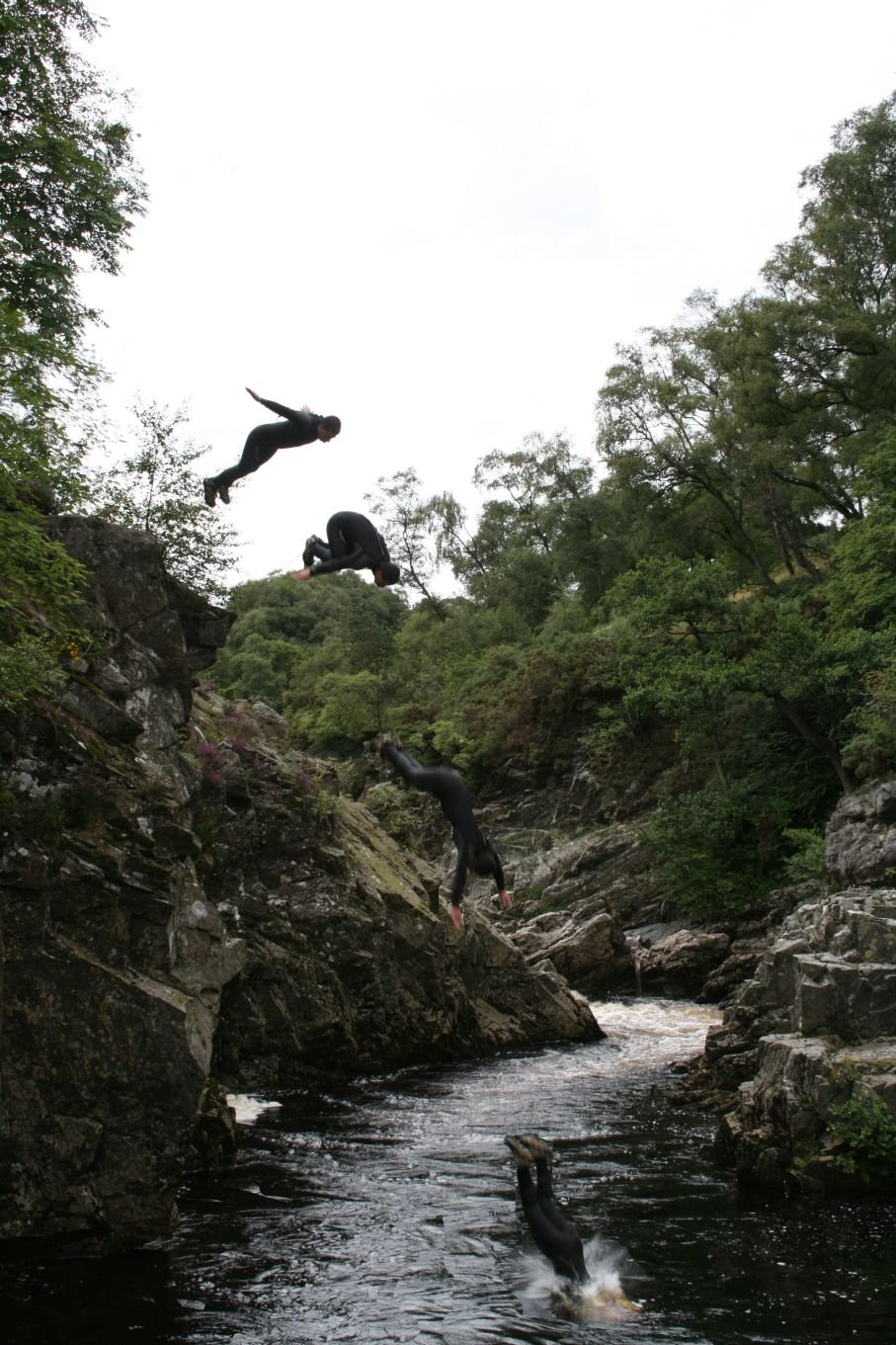 Cliff Diving in Scotland