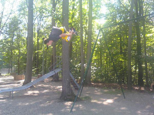 Me doing a backflip off the swing