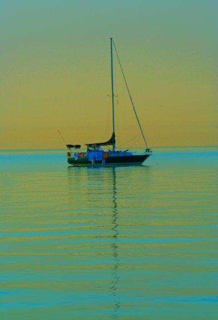 Sail-less Sailboat