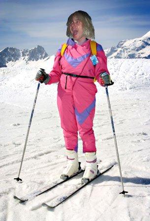 Doug skiing