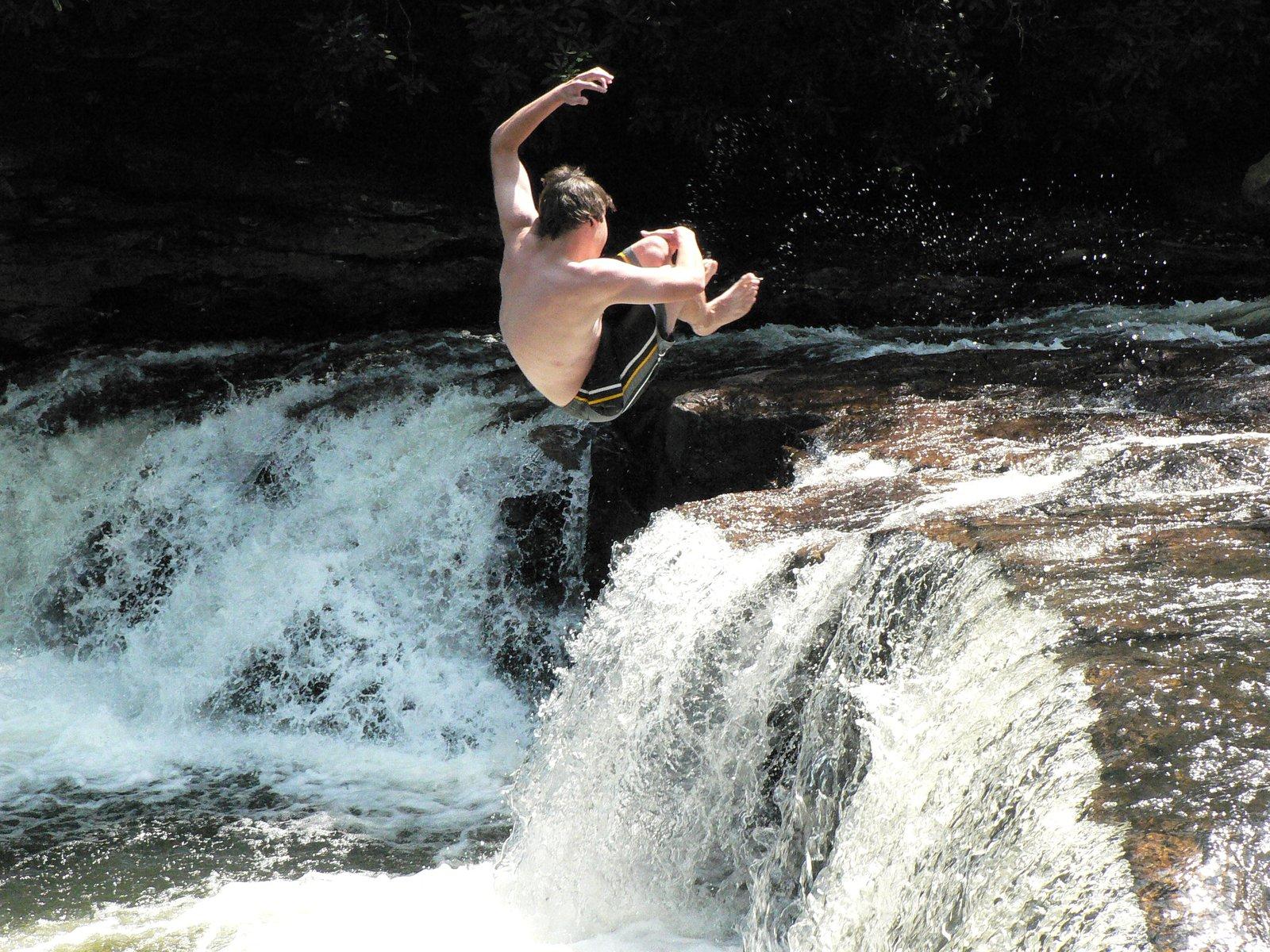 Cork 5 off a waterfall