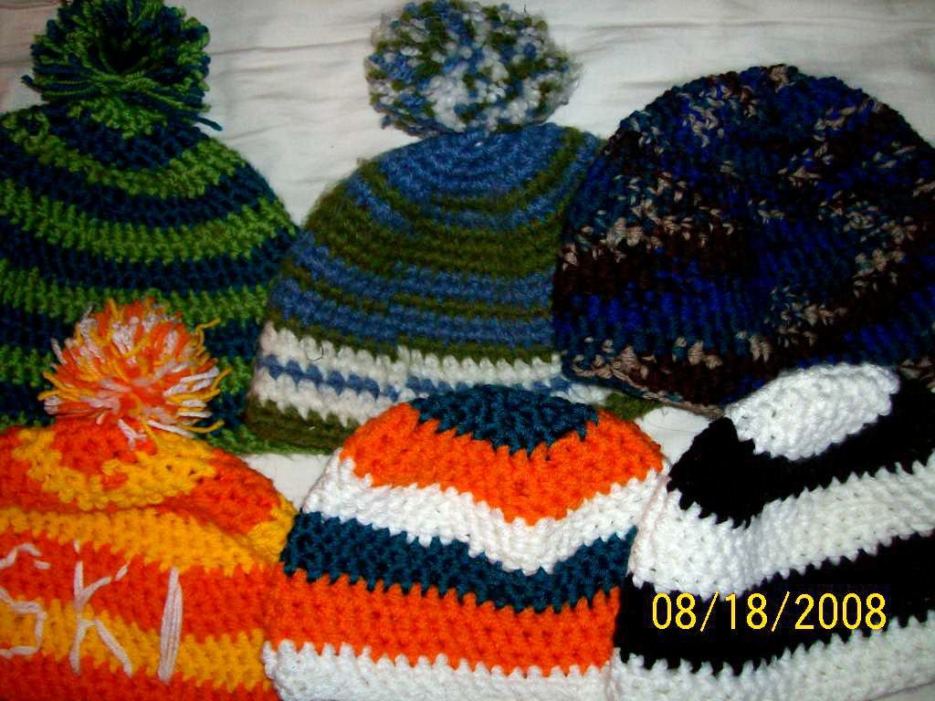 Hats made by me. want one??