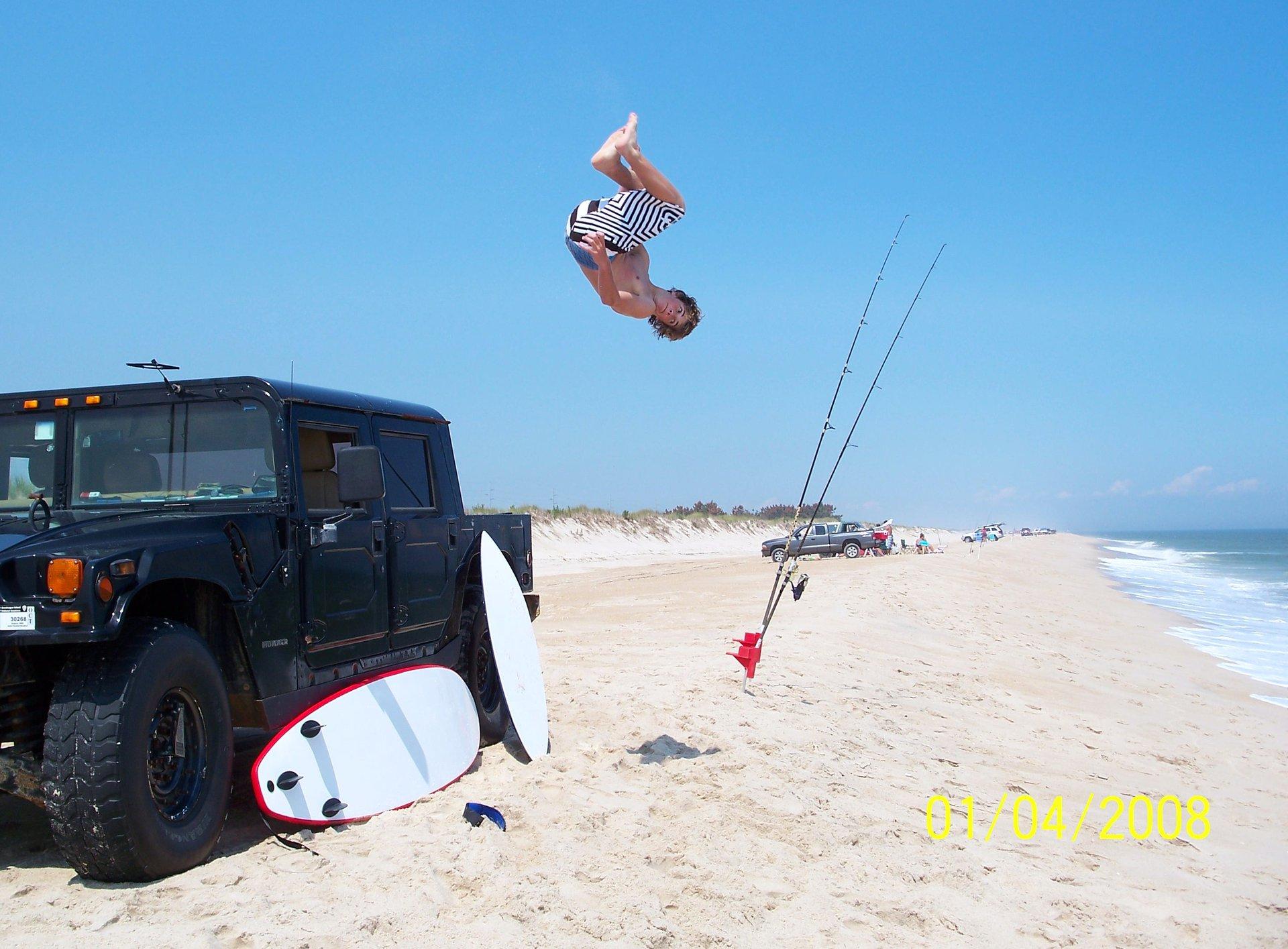Flippin on the beach