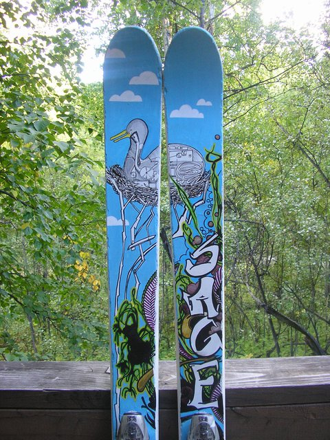 Painted skis