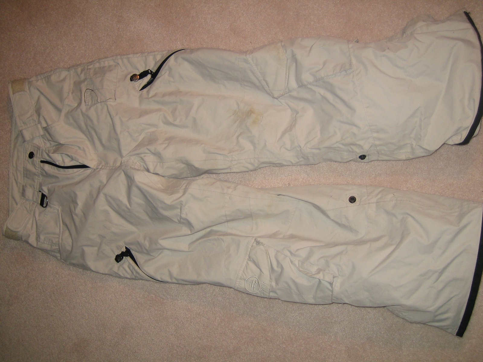Off white siver pants