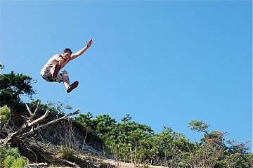 Dune jumping in cape cod