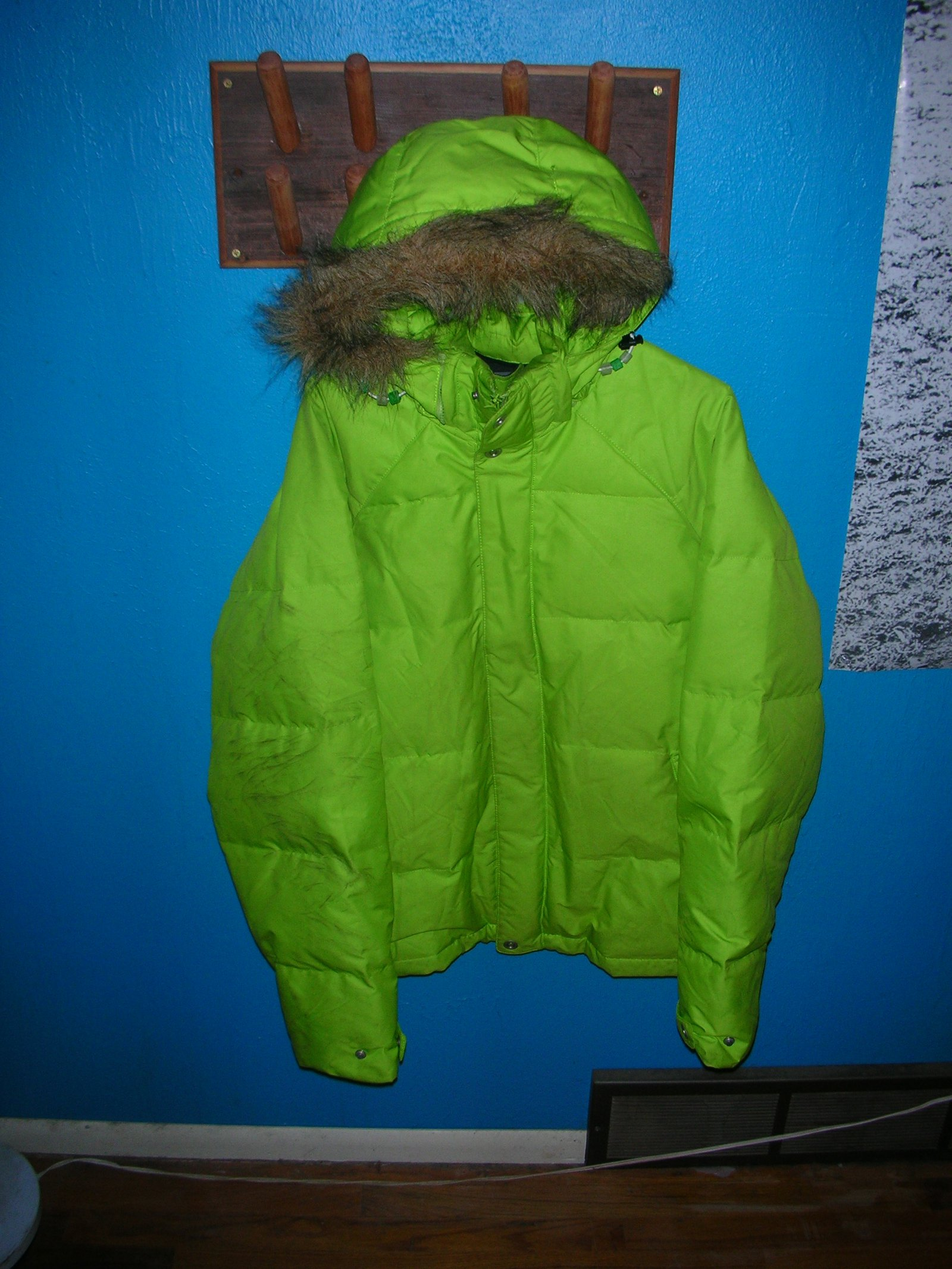 Mens XL DNA neon Green Puffy