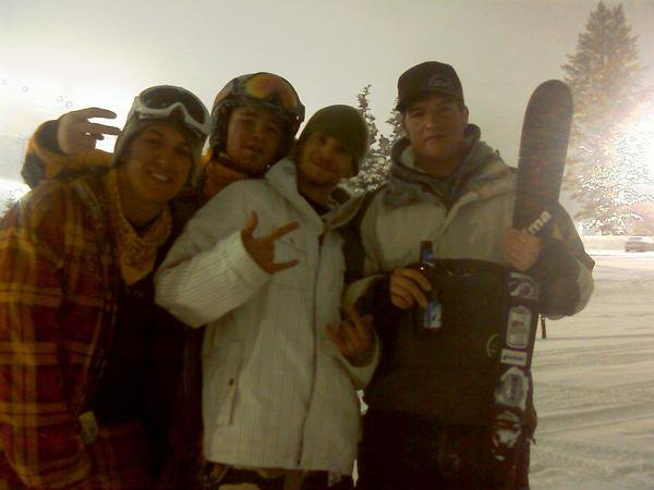 Pakin up after a night of shredding