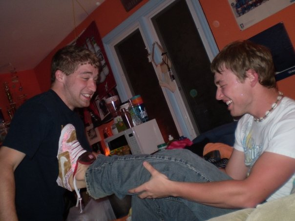 Derek and i at d's house in bri's room