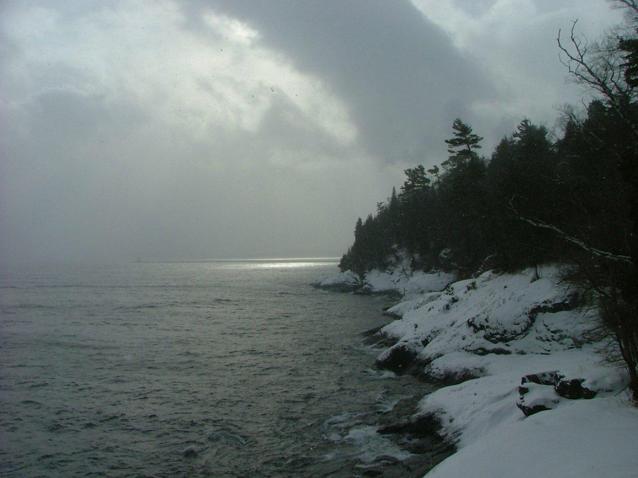Winter storm over Presque Isle