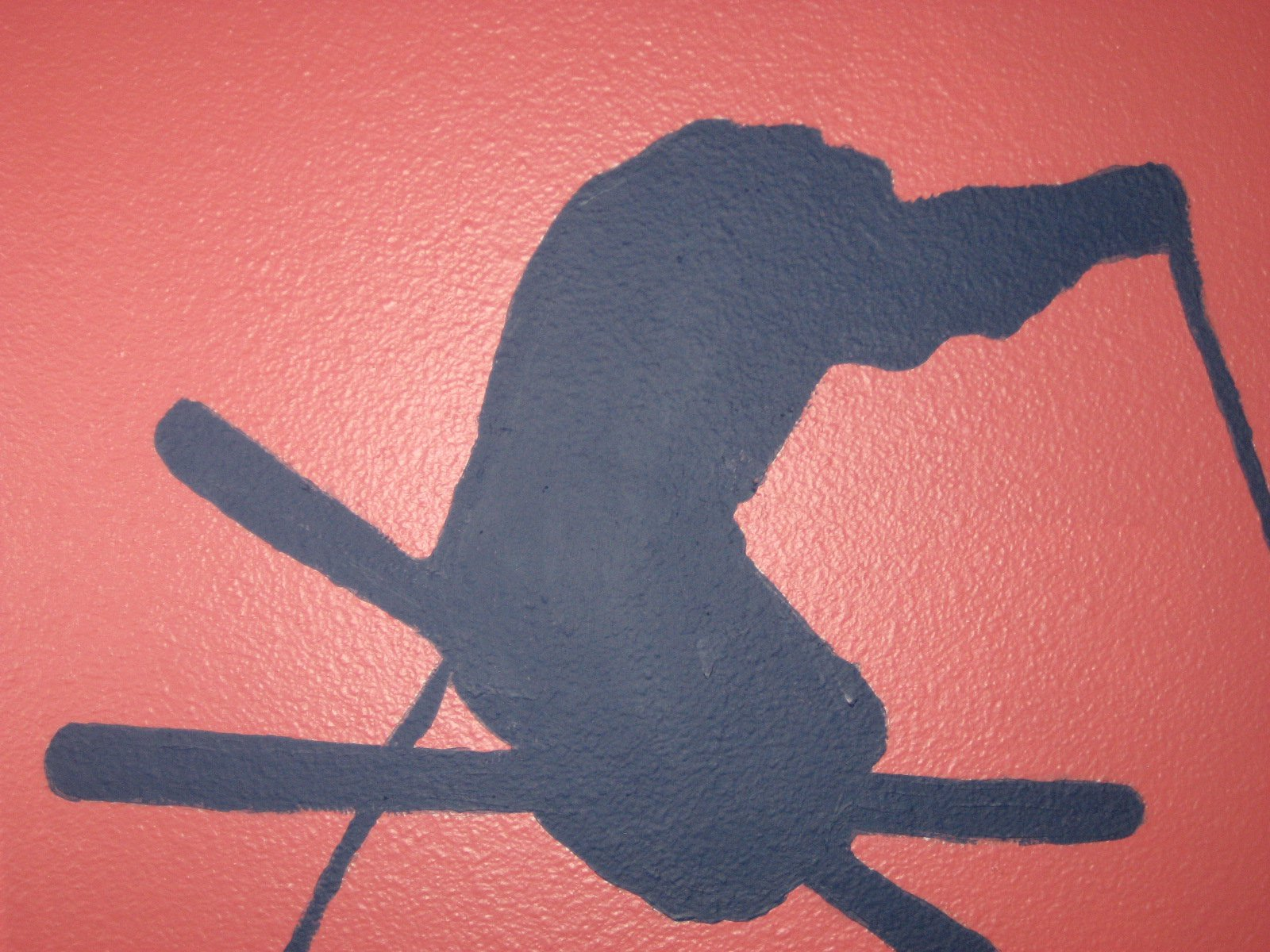 Skier on my wall