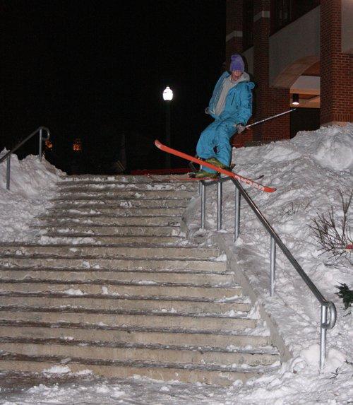 Chreis Culnane greasing a rail