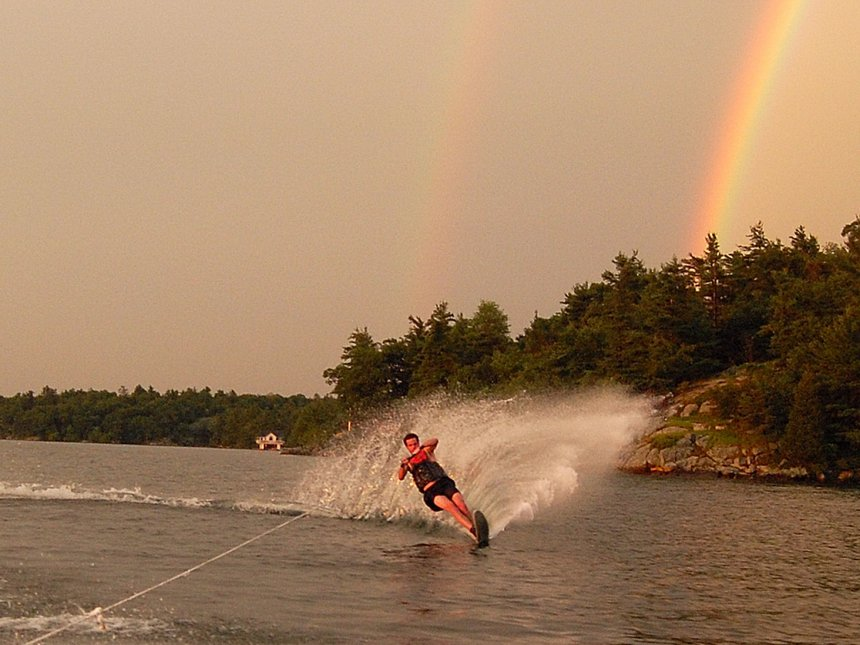 Sick day on the ski with 2 rainbows