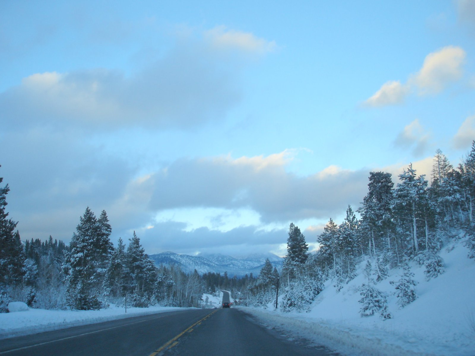 89 North to Lake Tahoe from kirkwood
