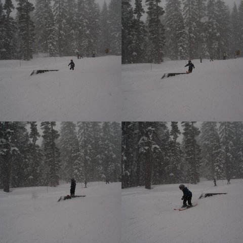 7 year old Taylor on the box rail