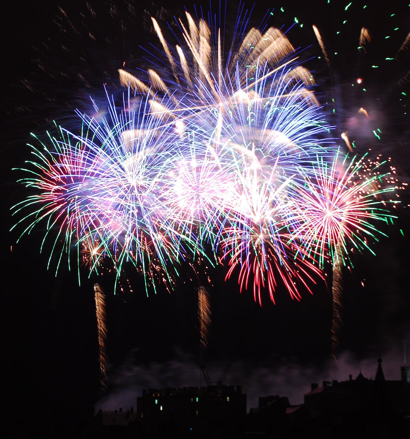 Festival Fireworks in Edinburgh