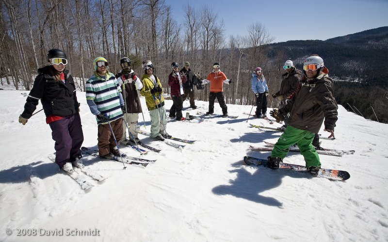 Sunny Days at Whiteface with the crew