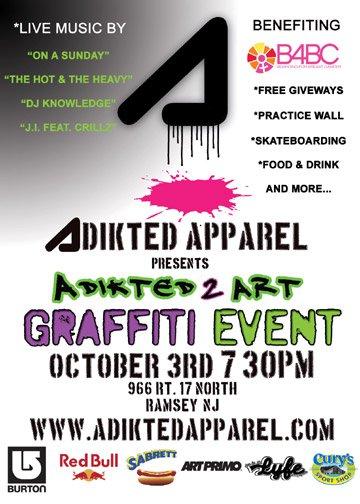 Adikted 2 Art Graffiti Contest