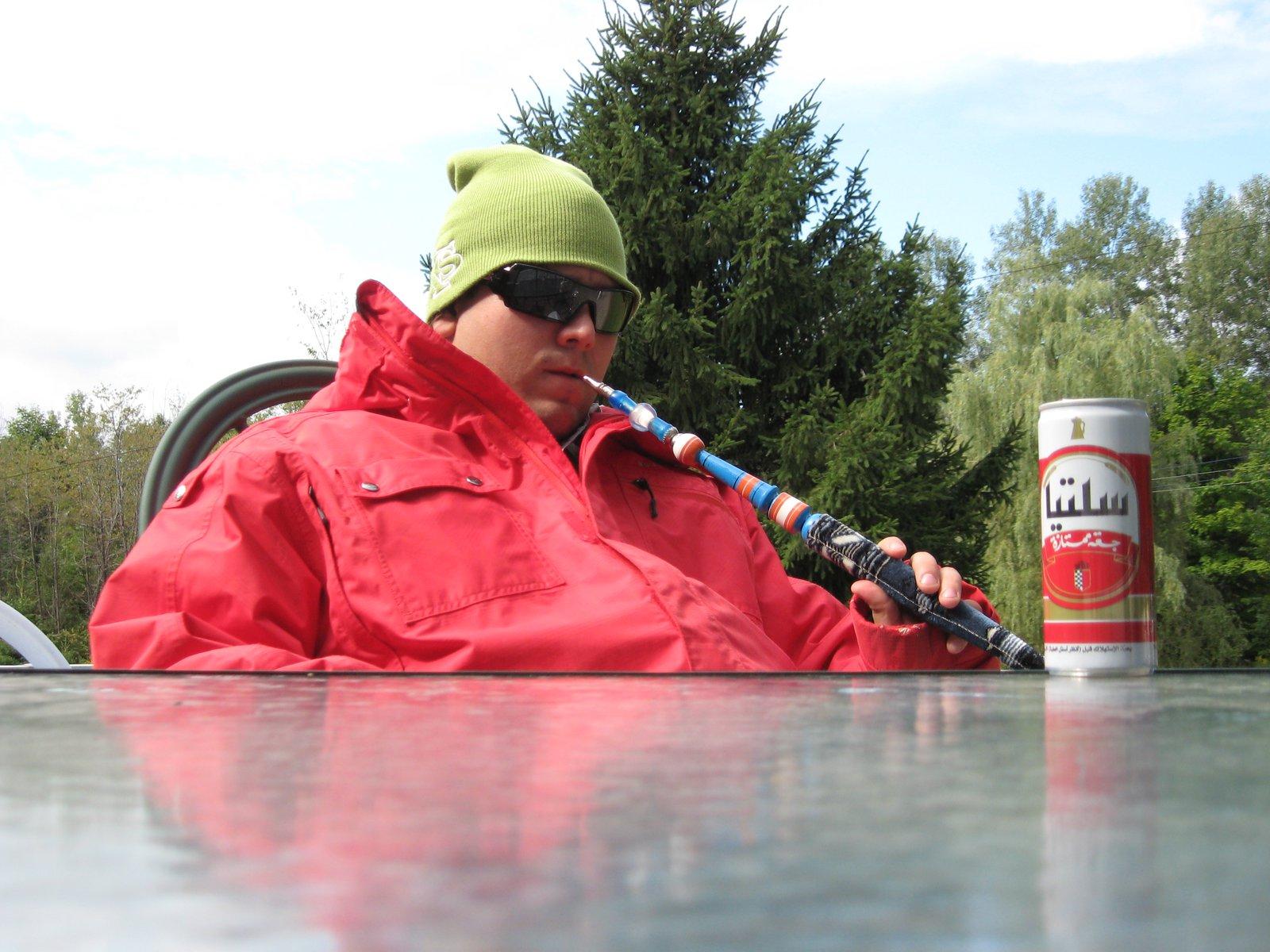 Me shisha and beer