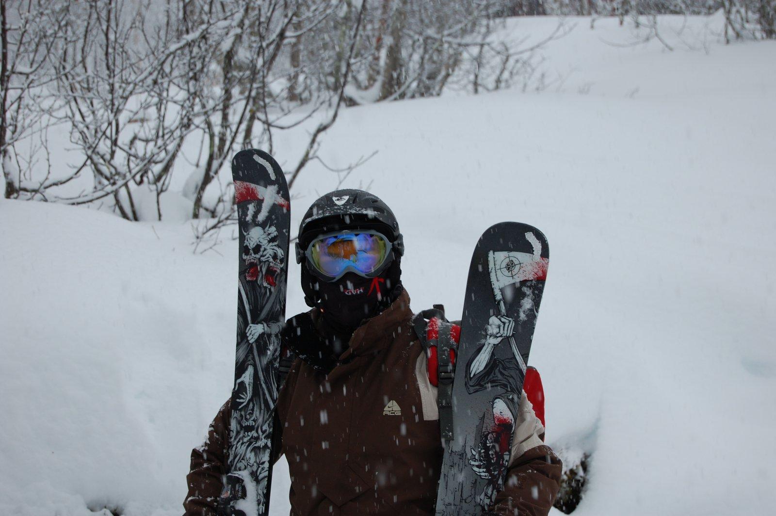 Me ready to ski pow