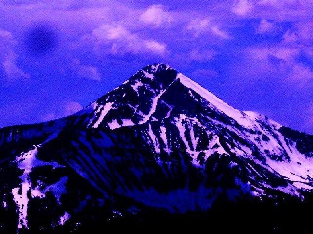 Lone peak, early summer