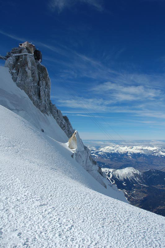 The aiguille du midi top station