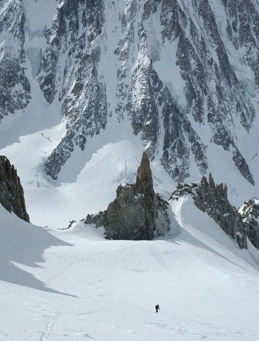 Skinning in the Argentiere Basin