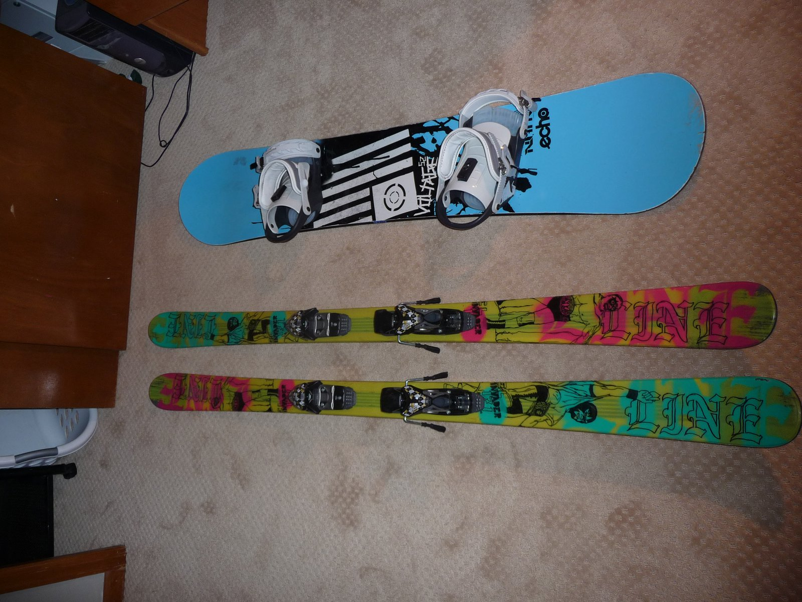 Skis and Board