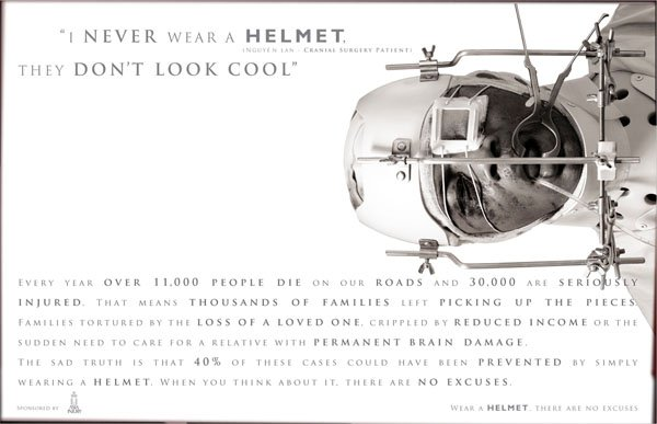 I newer wear a helment