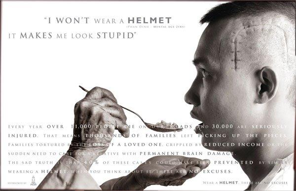 I won't wear a helmet