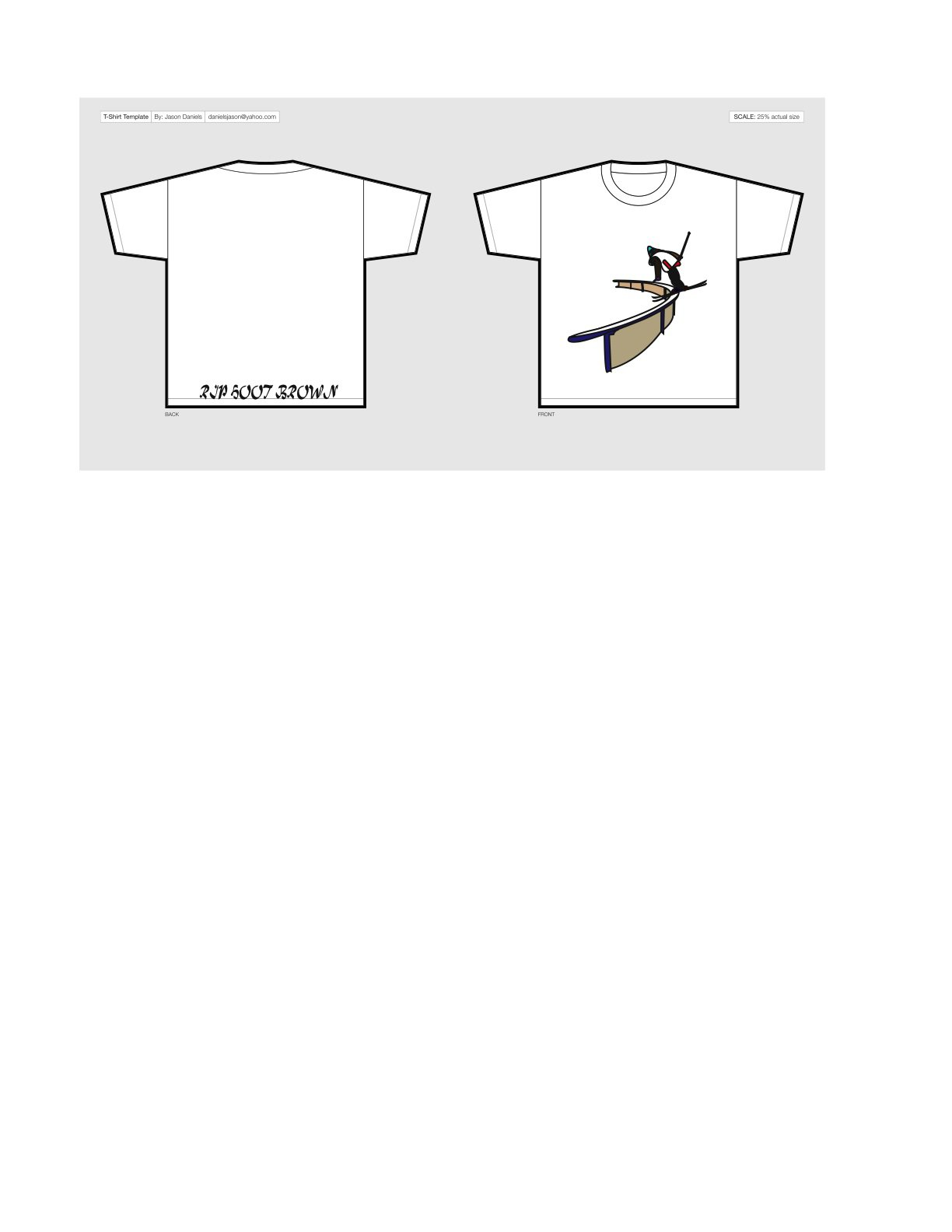 RIP Hoot (quick t-shirt design)