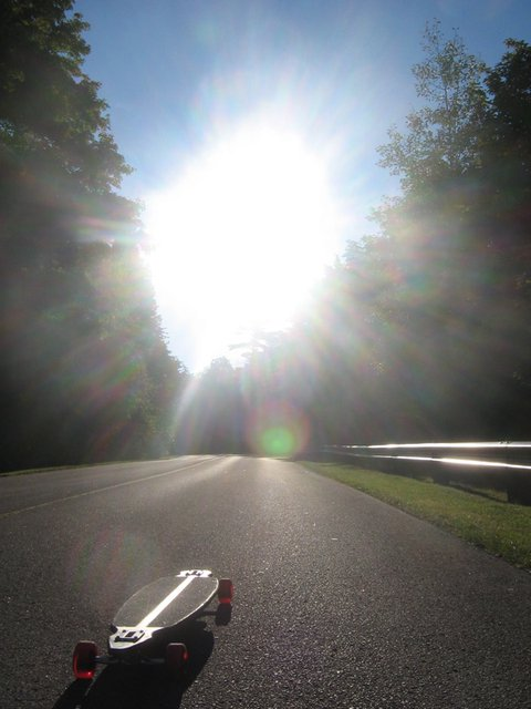 Longboard in the sun