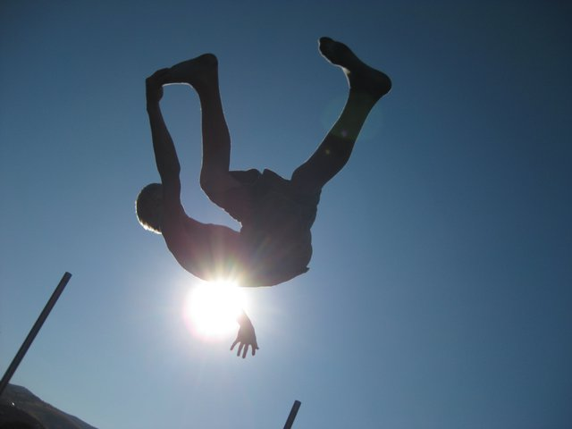 Me jumpin on a tramp