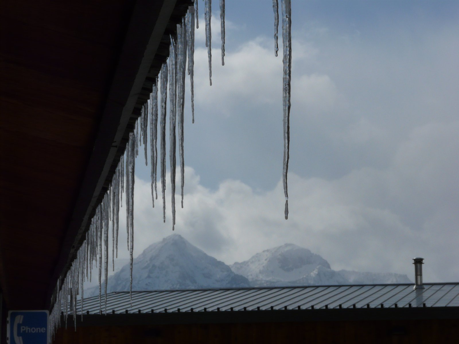Icicle/mountain shot