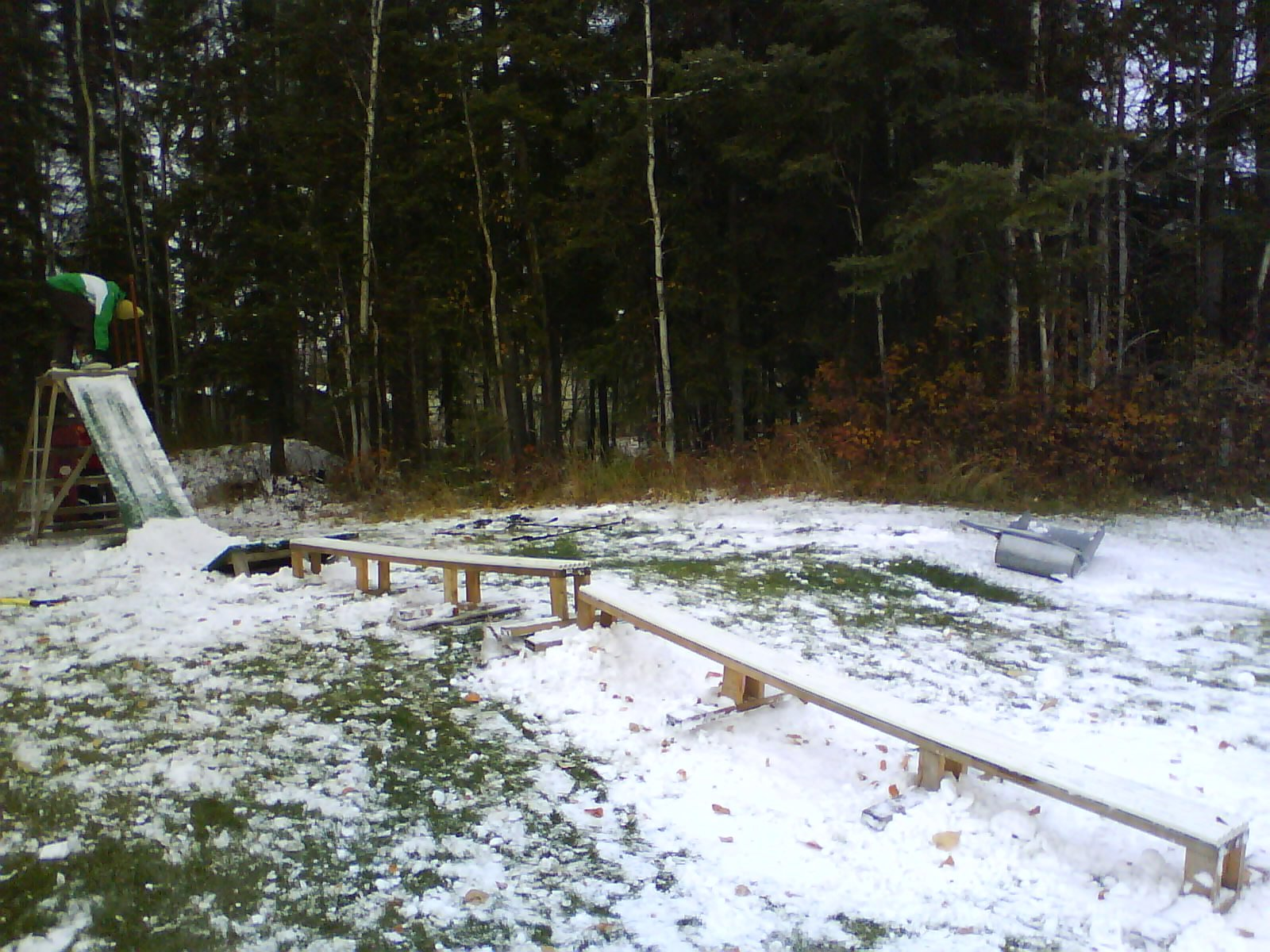 First snow setup of the season
