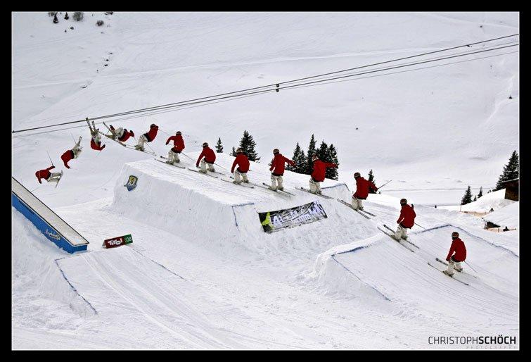 Patrick Hollaus taking on the snow box @ Austrian open