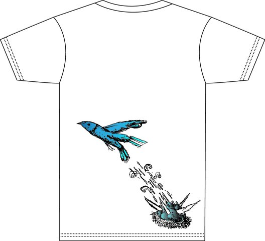 Back of tee- Blue Bird
