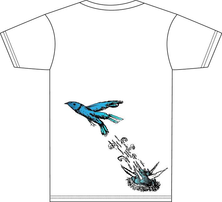 Back of tee- Blue Bird