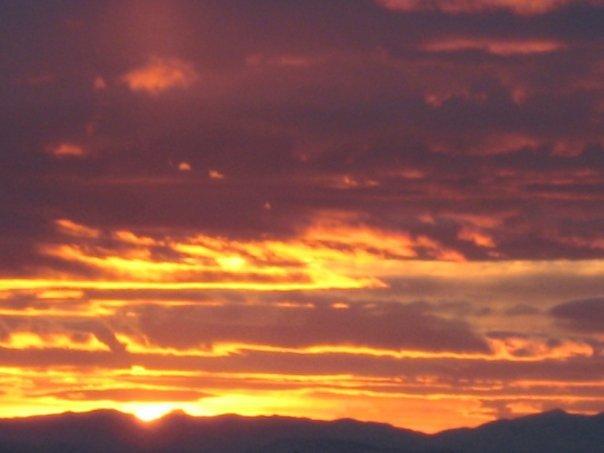 Sunset view over Salt Lake