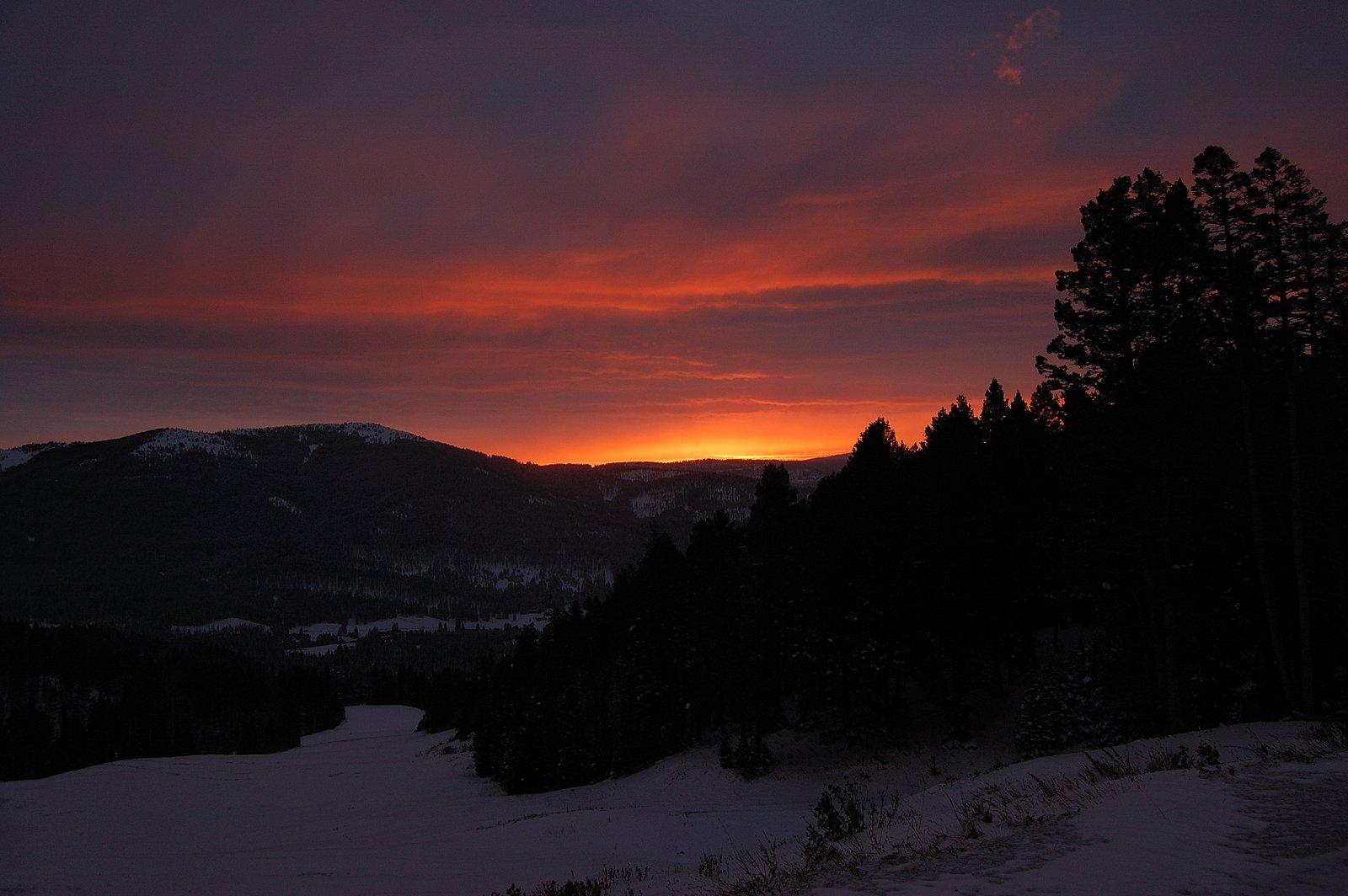 Bridger bowl sunrise