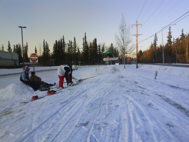 First jump session of the season