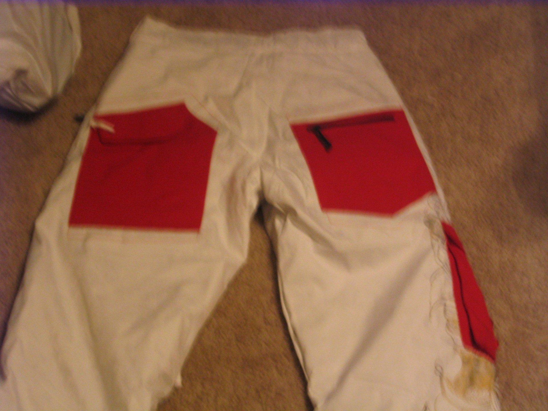 Back of pants