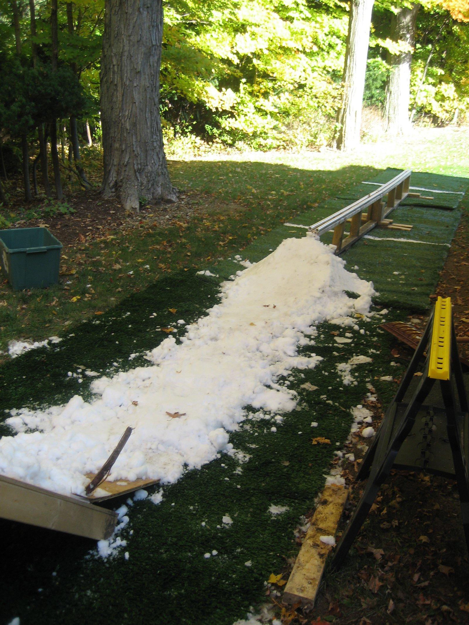 Setup with a little snow