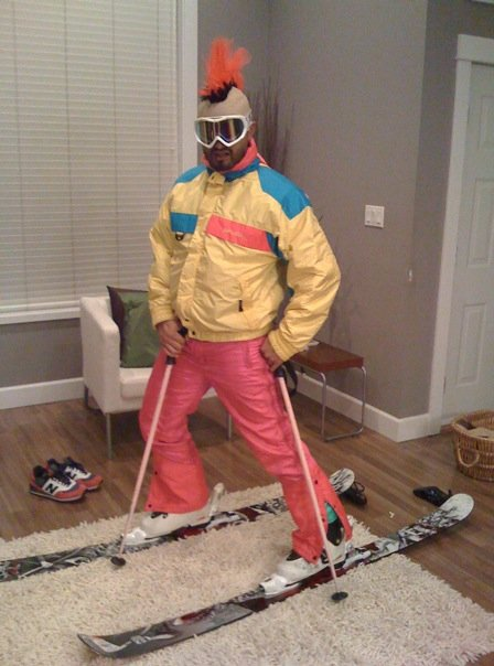 My new value village ski outfit that i bought for $16