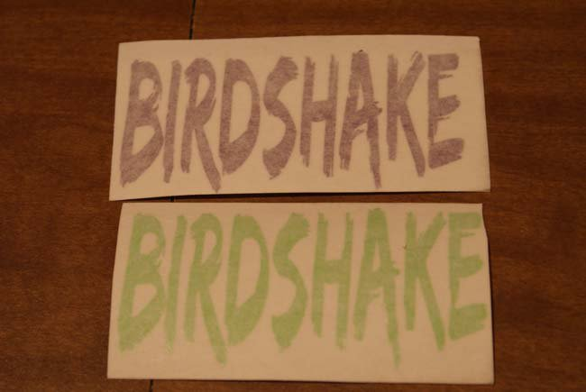 Birdshake stickers