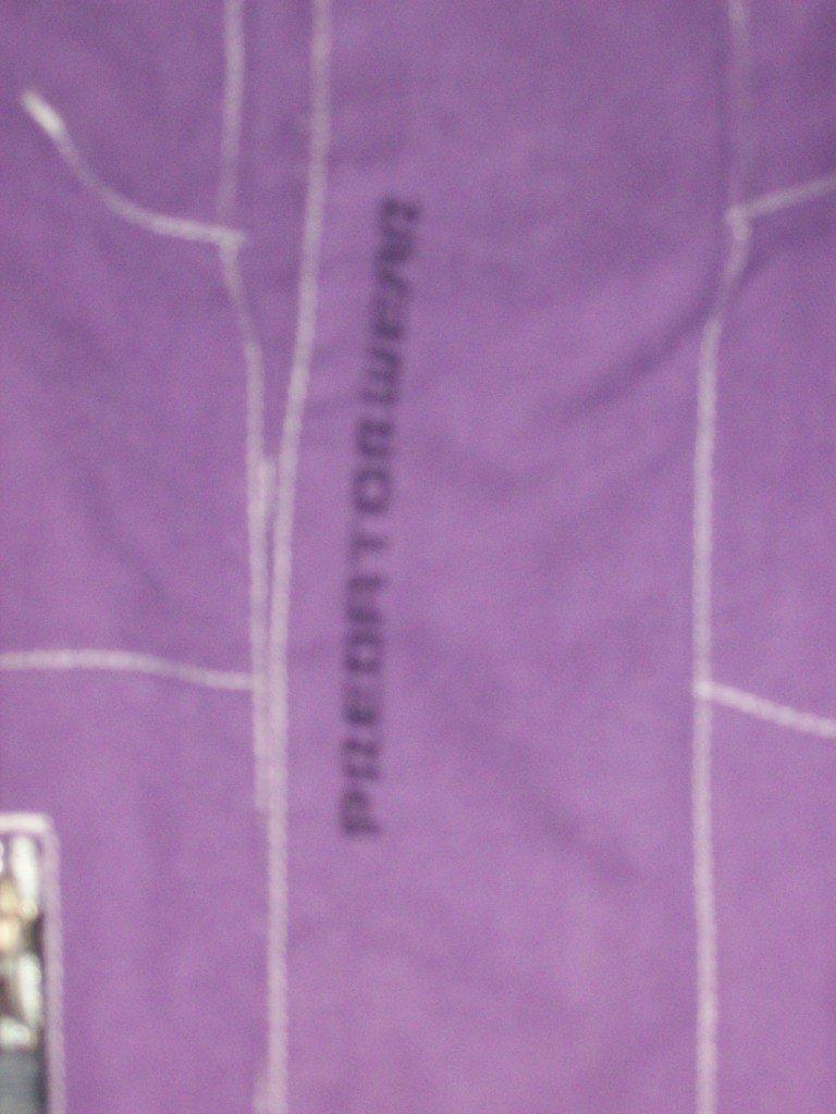 Predatorwear detail on front of jacket