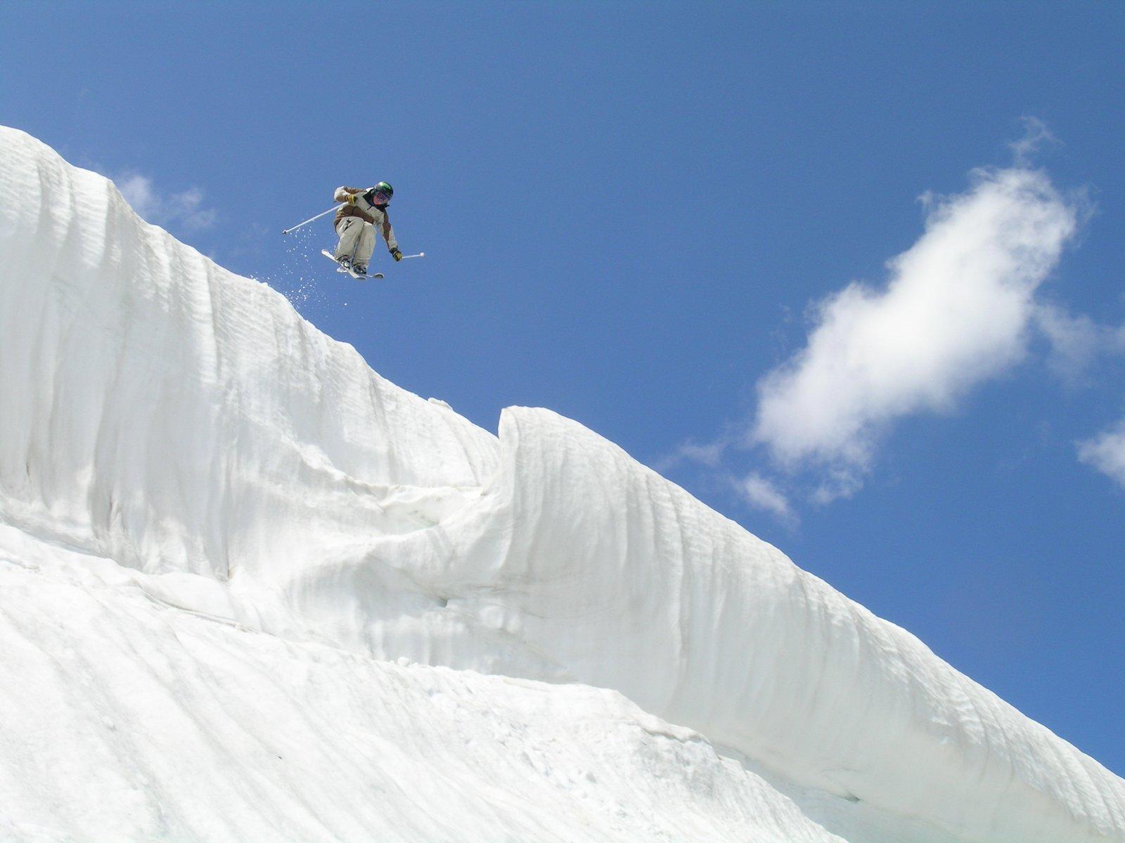 Beartooth pass cornice drop